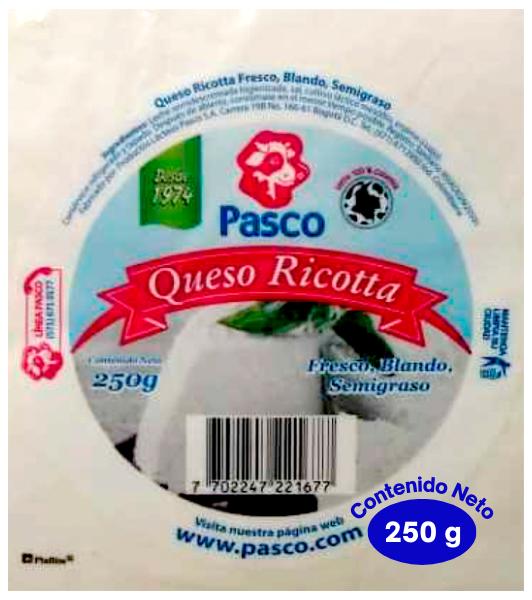 queso, quesos, Queso Ricotta 250 Gramos, requeson, ricotta, ricota, requesón
