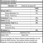 Tabla Nutricional Yoghurt Líquido Aros de Cereal