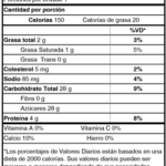 Tabla Nutricional Yoghurt Líquido Hojuelas de Cereal